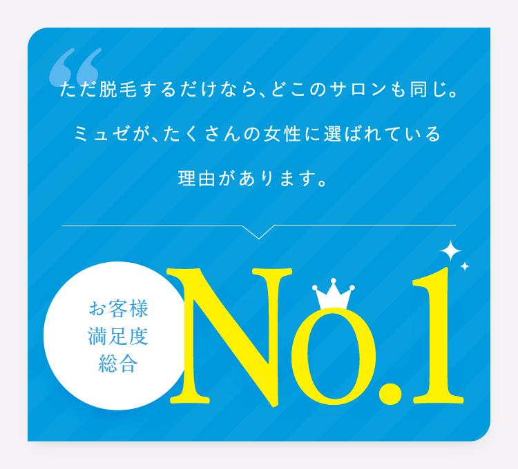 お客様満足度 総合No.1