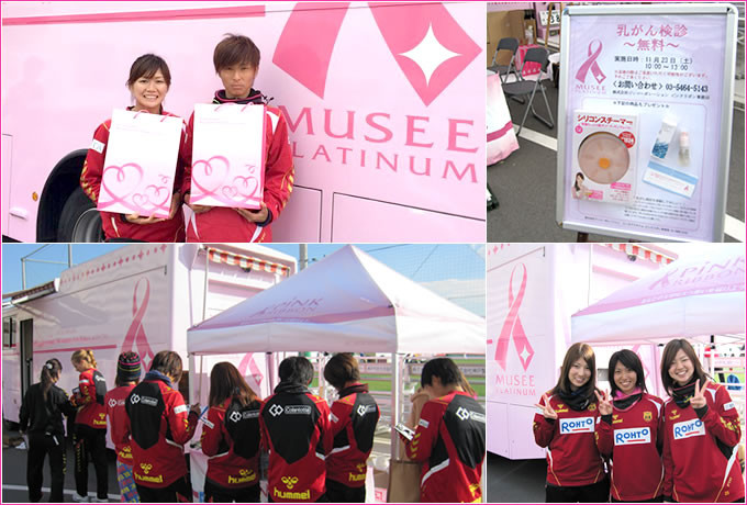 ピンクリボンイベント2013 INAC神戸レオネッサファン感謝祭
